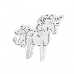 Color Your Own Mini Unicorn Character