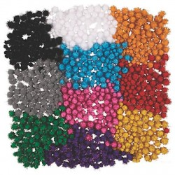 Tinsel Pom Pom Assortment -1000pcs