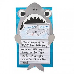 """All About Sharks"" Writing Prompt Craft Kit"
