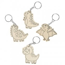 Colour Your Own Dinosaur Key rings-12 pack