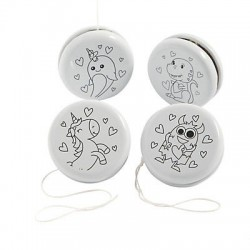 Colour Your Own Valentine Yo-Yos-12 Pack
