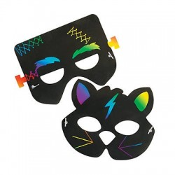Magic Scratch Halloween Masks - 12pack