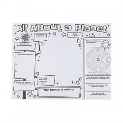 "Color Your Own ""All About a Planet"" Posters- 30 pack"