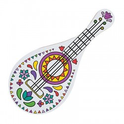 Colour Your Own Fiesta Guitar