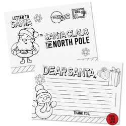 Custom Logo Postcard to Santa- 50pack