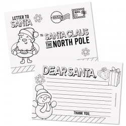 Postcard to Santa- 50pack