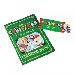 Christmas Colouring Book with Crayons