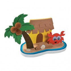 3D Tropical Island Craft Kit