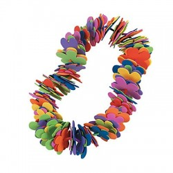 Summer Fun Flower Leis Craft Kit - 12 pack