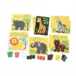 Safari Sand Art Sets - 24 pack