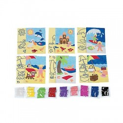 Seaside beach Art Sets - 24 pack