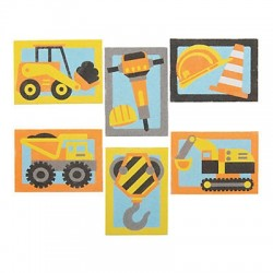Construction Sand Art Sets - 24 pack
