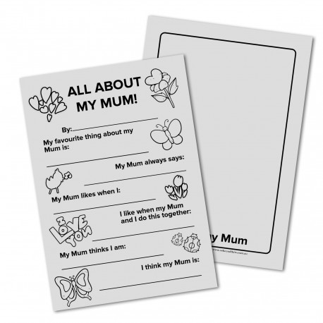 All About My Mum - Mohters Day Card
