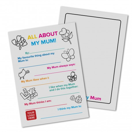 Logo Custom All About My Mum Mothers Day Card - 30 pack