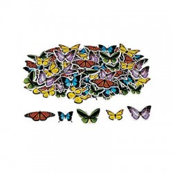 Realistic Butterfly Self-Adhesive Shapes 250 pack