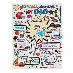 """Colour Your Own """"All About Dad"""" Posters - 30pack"""