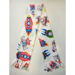DIY No Sew White with Rockets Scarf Kit