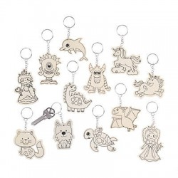 Colour Your Own Key rings Assortment-144 pieces