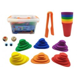 Stacking Stone Colour Sorting Set