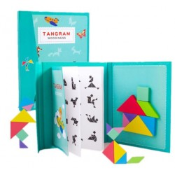 Magnetic Wooden Tangram Puzzle Book