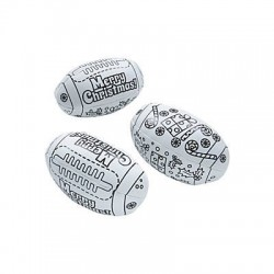 Colour Your Own Christmas Footy's - 12pack