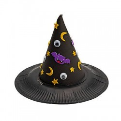 Halloween Witch Paper Plate Hat Craft Kit