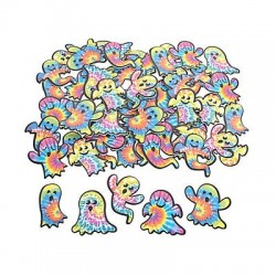 Tie-Dyed Ghost Self-Adhesive Shapes - 72 pack