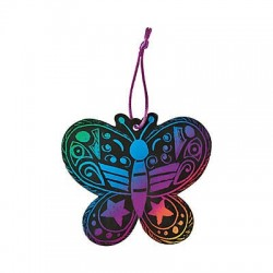 Magic Colour Scratch Butterfly Ornaments - 24 pack