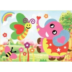 3D Foam Art Puzzle ~ Butterfly & Elephant