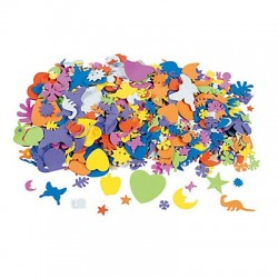Assorted Adhesive Foam Shapes -1200pack