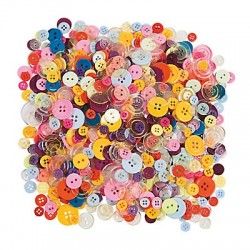 Rainbow Craft Buttons 800pack
