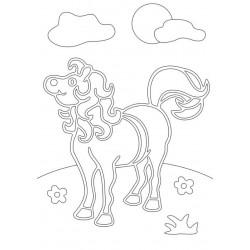 Sand Art Kit -Pony in Feild